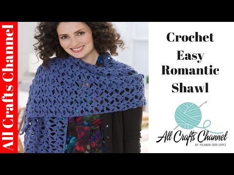 How to crochet romantic lacy shawl easy beginner level shawl en crochet