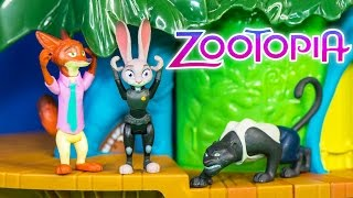 ZOOTOPIA Disney Zootopia's Danger in the Rainforest District Playset Video Toys Unboxing