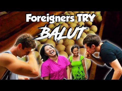 Foreigners Try BALUT Philippines Travel Vlog