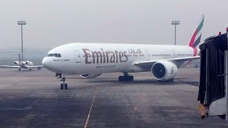 ُEmirates 77W Taxi to Parking at Dhaka Airport
