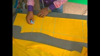 How to cut a kurti/ kameez/salwer/suit/kurta step by step ( DIY) In Hindi/urdu