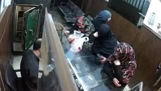 شاهد كيف تمت سرقة مصاري المحل من 3 سيدات محجبات