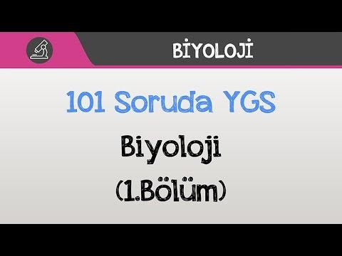 101 Soruda YGS Biyoloji 2016 (1.Bölüm)