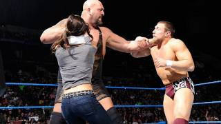 Friday Night SmackDown -  AJ stops Big Show from hitting the WMD on Daniel Bryan