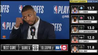 Damian Lillard postgame reaction | Thunder vs Blazers Game 4 | 2019 NBA Playoffs
