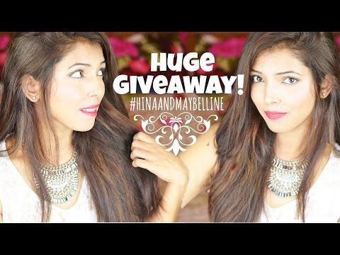 Giveaway!!! #HinaAndMaybelline | Hina Attar