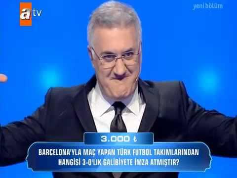 Barcelonayi 3-0 yenen Türk takimi hangisidir? (Güven Bana atv 12 Mart 2013)