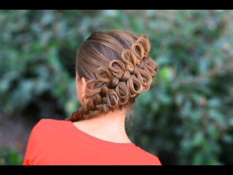 Плетение косичек из бантиков видео