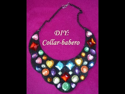 DIY Collar Babero de Fieltro DIY Felt bib necklace