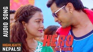 Ghaas Ramro Siruko Audio Song | New Nepali Movie HERO RETURNS 2018/2075 | Ft. Sabin, Rekha