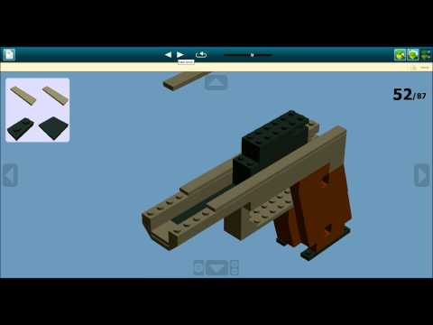 Ldd Lego Colt M1911 Instructions Playithub Largest Videos Hub