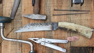 Making a Viking Seax from a Pruning Shear- Part 2 (Caribou Antler Handle)