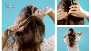 Hair Tutorial - Sabrina Carpenter - Half Rose Bun | Official Disney Channel Africa