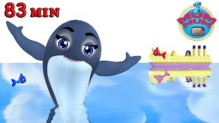 Blue Whale - Animal Songs & more Popular Nursery Rhymes Songs   Wheels on the bus