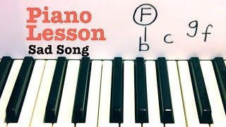 Sad Song ★ Piano Lesson ★ Tutorial ★ We the Kings