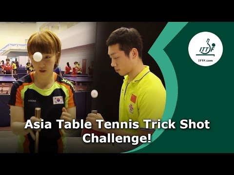 Asia Table Tennis Trick Shot Challenge