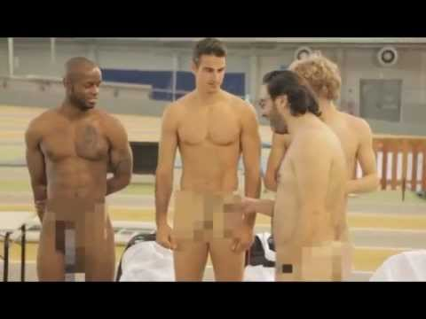 WTF 4 French Athletes butt naked during a photo shoot for Athena