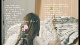 sad korean songs mix 🍂🍁 (mostly BTS) {homework,sleeping,relaxing}