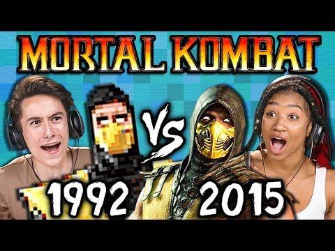 Xxx Mp4 MORTAL KOMBAT Old Vs New 1992 Vs 2015 React Gaming 3gp Sex
