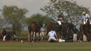 Prince Harry saves injured polo player in dramatic rescue