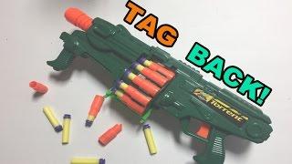 TAG BACK! - BuzzBee Torrent, the foam blasting Street Sweeper Shotgun