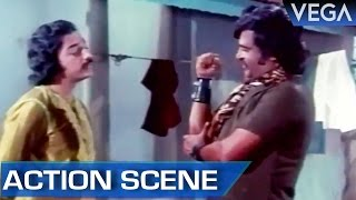 Rajinikanth & Kamal Hassan Fight For Sridevi || Thaayillamal Naan Illai Tamil Movie || Action Scene