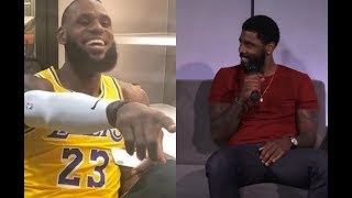 "Kyrie Irving Gets HYPED On LeBron James Went to LA:""Me And Celtics Had A Chance!"""