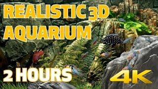 3D FISH AQUARIUM in 4K 60fps - 2 HOURS - DreamScene [Live Wallpaper]