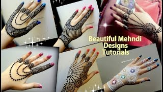 How to apply Mehndi Designs II Beautiful jewellery style mehndi designs for hands Eid 2017