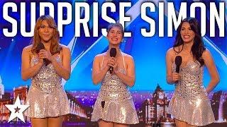 Girl Group SURPRISE Simon Singing Sex Bomb on Britain