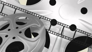 Film reels movie - free loop 3D animated HD background #02