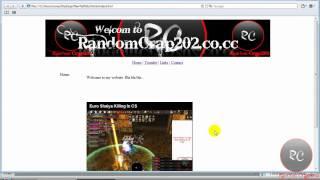 How to make a website using adobe dreamweaver CS4 part 2