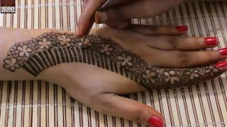 Unique Floral Mehndi Designs For Hands | Upper Side Hand Easy henna Mehndi Design