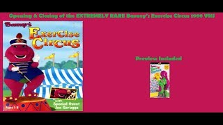 Barney's Exercise Circus VERY RARE 1998 VHS Opening & Closing