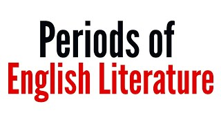 Periods Of English Literature History And Particular Age Description In Hindi