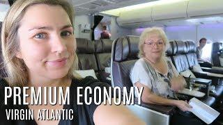 FLYING VIRGIN ATLANTIC PREMIUM ECONOMY NYC TRAVEL DAY BOEING 747