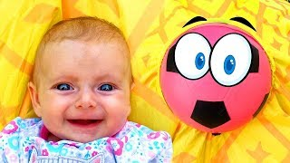 Ball song | +More Baby Songs by Maya and Little baby Mary