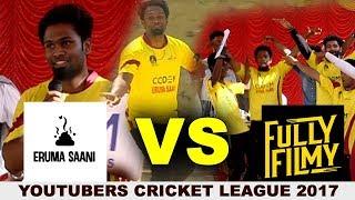 Eruma Saani Vs Fully Filmy : Hot Cricket Match | Youtubers Cricket League Match 5 | Nettv4u YCL 2017