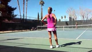 Playing Tennis Minka Hot Pink !