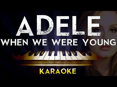 Download Adele - When We Were Young | Lower Key Piano Karaoke Instrumental Lyrics Cover Sing Along