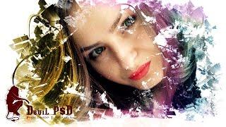 Photoshop Photo Effects Paint Splash using Brush Tutorial