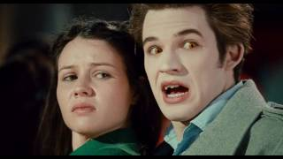 Vampire bites the neck of the girl and turns her into a vampire in the scene of proposal