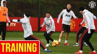 Manchester United train ahead of Brighton Clash   Alexis, Martial, Mata, Herrera, Bailly, Lukaku