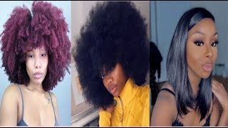 Natural| Curly Hairstyles Compilation 💇🏾♀️