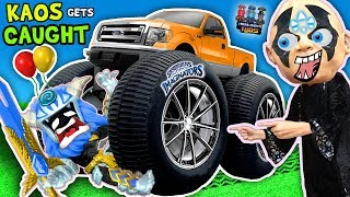 BAD BOY RUNS OVER TOY w/ CAR + Boiling Toys & More 💀 Kaos Gets Caught!! SKYLANDERS IMAGINATORS Skit