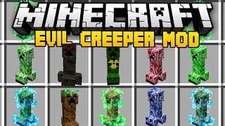 Minecraft EVIL CREEPER MOD (Mod Showcase)