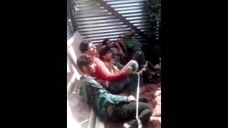 Indian Army Torture Kashmiri Boys to do Anti Pakistan Chating