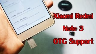 Xiaomi Redmi Note 3 OTG Support