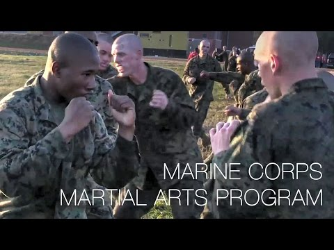 Recruits Train in Marine Corps Martial Arts Program (MCMAP)