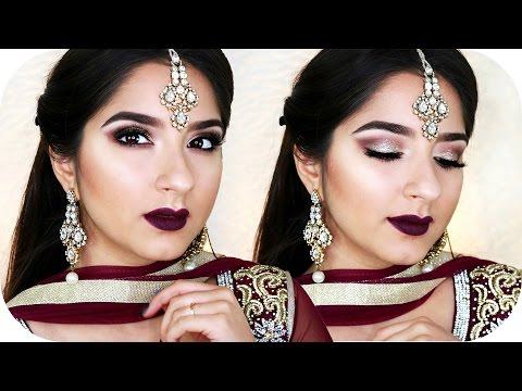Get Ready With Me - Indian Wedding Make Up - Bollywood Look - Gold Lila | Sanny Kaur